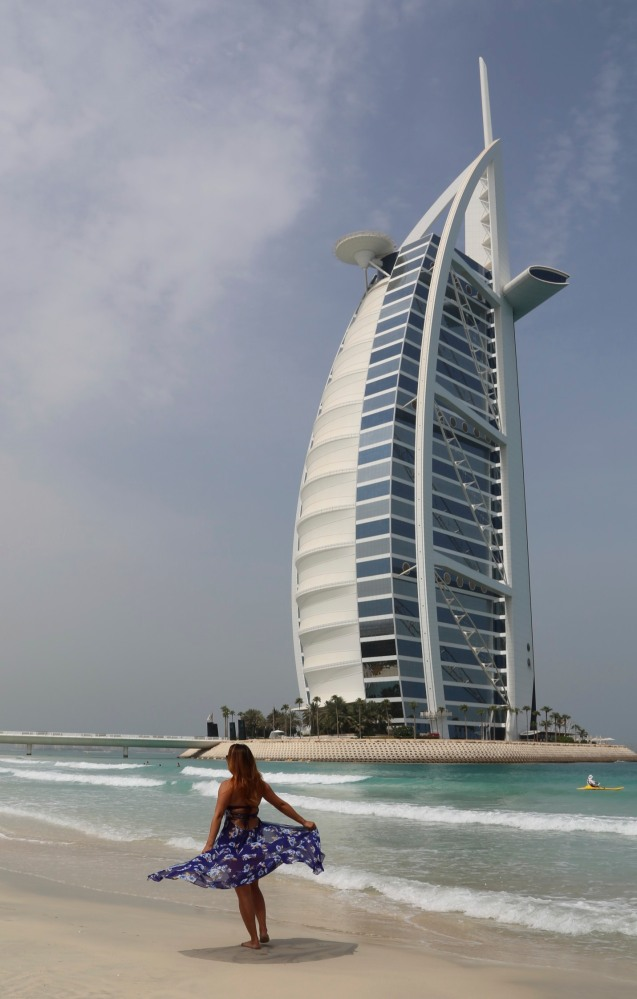Outside Burj Al Arab hotel