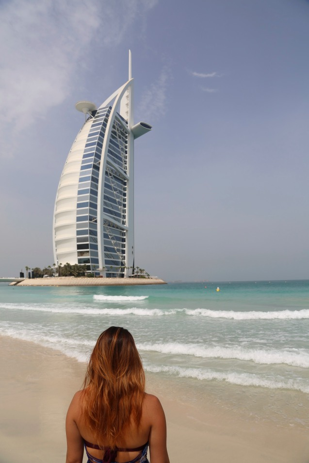 On the beach in front of Burj Al Arab