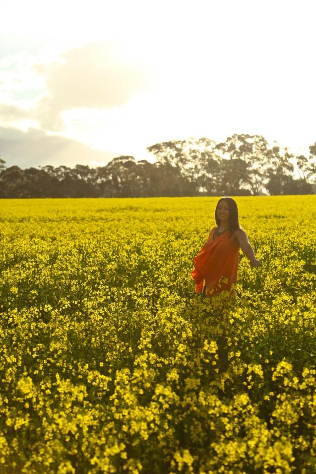Canola fields, fashion clothing, adventure, photography
