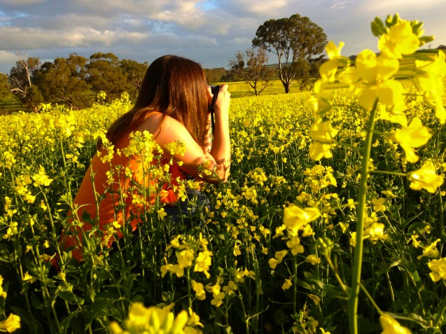 Canola fields, fashion clothing, adventure, photography