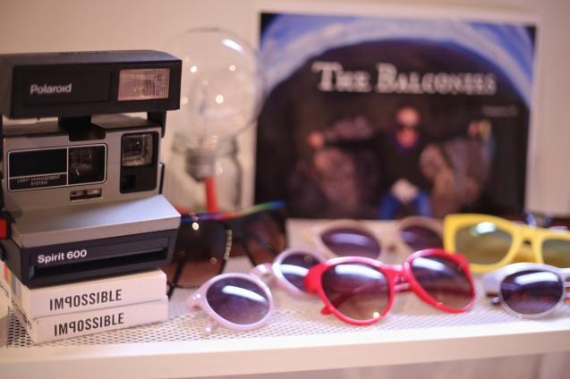 Polaroid camera sunnies