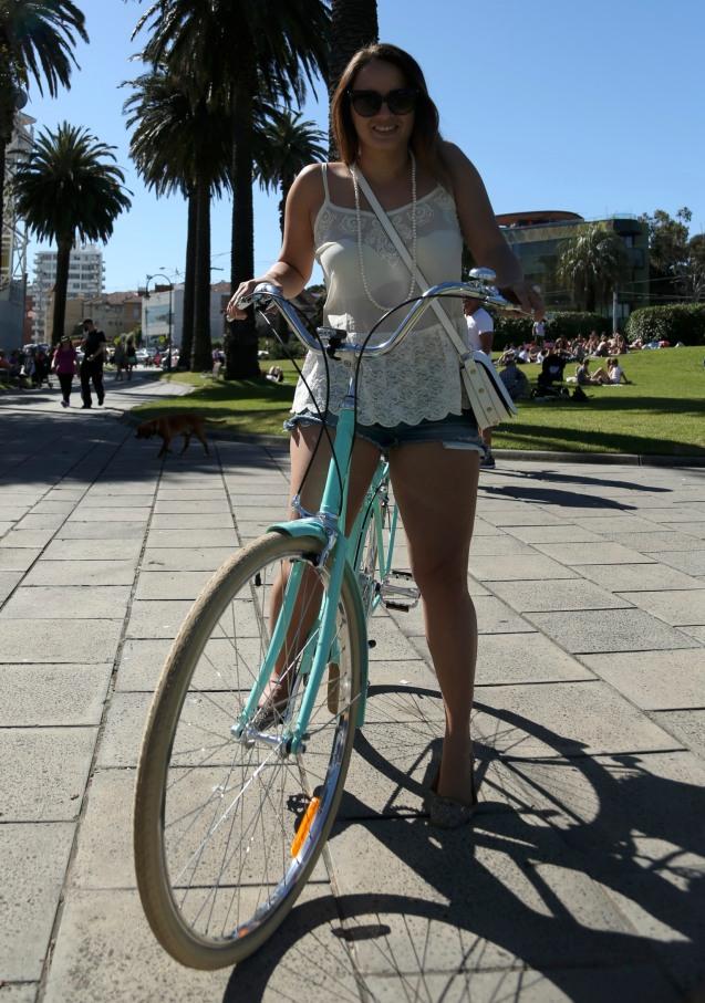 Biking hello kiki