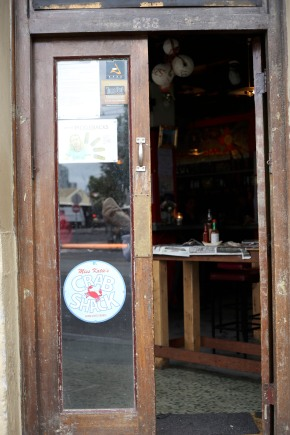 Front door to Miss Katie's Crab Shack