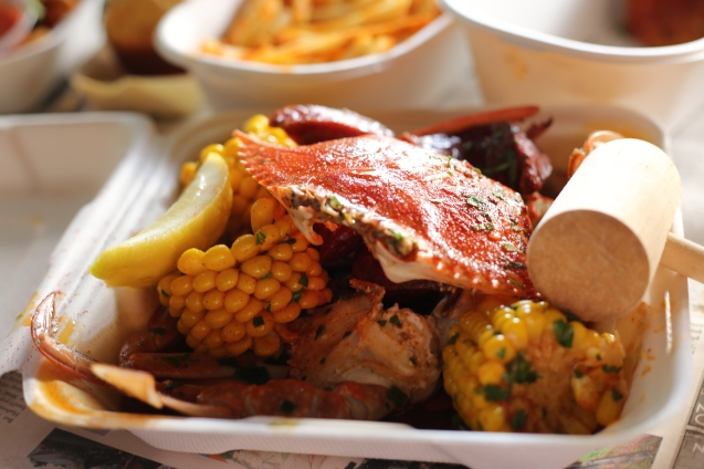 Crab with corn