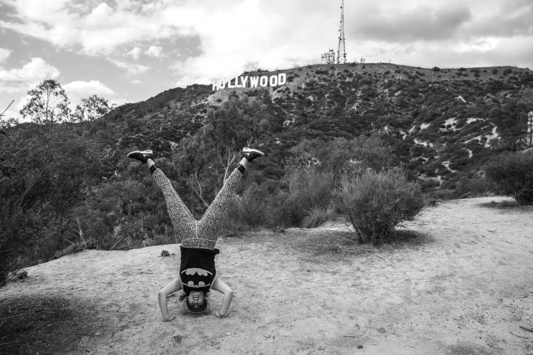 Hollywood Sign Headstand